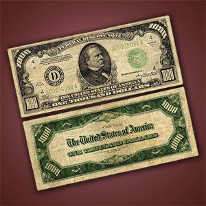 sell $1000 bill